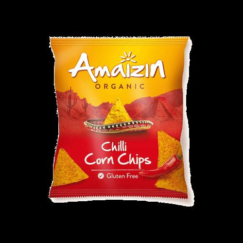 amaizin organic chilli corn chips