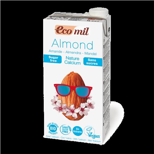 ecomil nature calcium sugar free organic almond milk