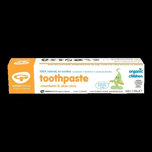 green people organic children mandarin aloe vera toothpaste