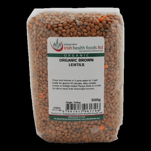 organic brown lentils