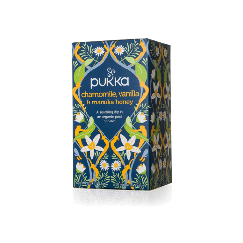 pukka chamomile vanilla manuka honey tea